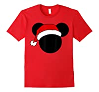 Disney Mickey Santa Hat T Shirt Red