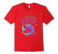 Mermaid Squad Shirts Red