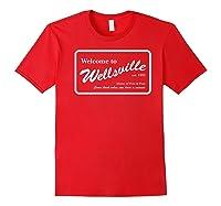 Nickelodeon Pete & Pete Wellsville Sign Premium T-shirt Red