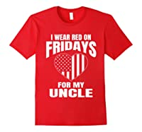 Red Fridays Deployed Uncle T-shirt Red