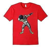 Football Dabbing T Shirt Funny Gray Navy Neon Green Red