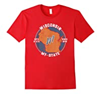 Wisconsin State Tourist Gift Shirts Red