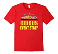 Circus Event Staff T-shirt   Carnival Birthday Party Shirt Red