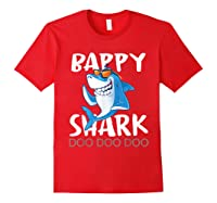 Bappy Shark, Fathers Day Gift From Wife Son Daughter Shirts Red