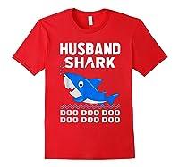 Husband Shark Doo Doo Shirt For Matching Family Pajamas Red