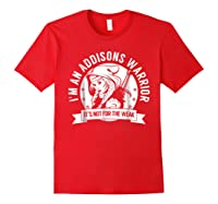 Addisons Hooded Warrior T-shirt- Addisons Disease Awareness Red