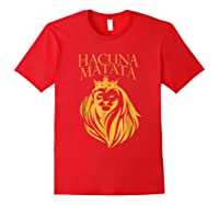 \'s Golden Lion King-hakuna Matata Tshirt-premium Quality Red