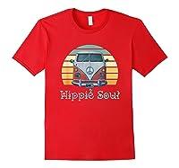 Hippie Soul Shirt Hippie Van Shirt Retro Hippie Shirt Red