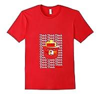 Smokey Bear Think Think Thanks T-shirt Red