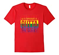 Straight Outta The Closet Pride T-shirt Red