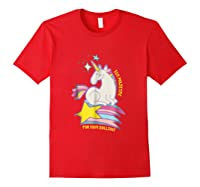 Too For Your Bs Unicorn T-shirt Rainbow Sparkles Red
