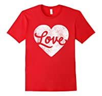 Cute Cursive Love Valentines Day Red For Shirts Red