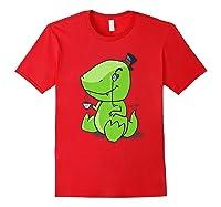Tea Rex Cute Dino English Tea Drinking Party Shirts Red