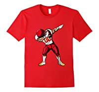 Football Dabbing T Shirt Funny Red Yellow Red