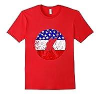 American Flag Hockey Vintage Retro Hockey Player Shirts Red
