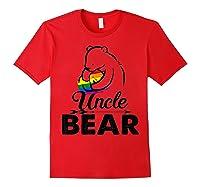 Uncle Bear Lgbt Rainbow Pride Gay Lesbian Gifts Shirts Red