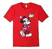 Disney Hello Holiday Mickey T Shirt Red