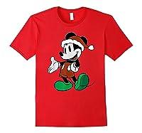 Disney Mickey Mouse Santa T Shirt Red