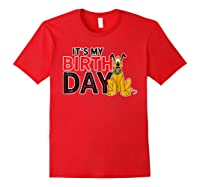 Disney Pluto My Birthday T Shirt Red