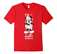 Disney Mickey Mouse Chilling T Shirt Red