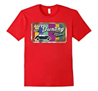Auto Painting Old Stuff Rusty Sign T Shirt Gift For Pickers Red