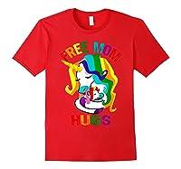 Free Mom Hugs Lgbt Gay Pride T-shirt Red