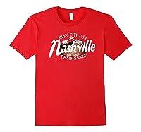 Nashville Tn Tshirt Vintage Music City Usa Est 1806 Gift Red