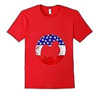 American Flag Japanese Chin Vintage Retro Japanese Chin Dog Shirts Red