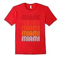 Miami Miami Miami T-shirt Red