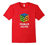 Problem Solved - Rubic Cube Premium T-shirt Red