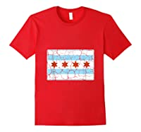 Chicago City Flag Shirt Illinois Retro Vintage Red