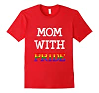 Mom With Pride Lgbt Rainbow Tank Top Shirts Red