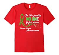 In This Family No One Fights Alone Tal Health T Shirt Red
