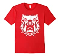 Pit Bull Face T For Pitbull And Apbt Lovers Shirts Red