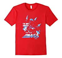 Captain Marvel I'm The Boss Space Blue Red Premium T-shirt Red