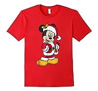 Disney Santa Mickey Mouse Holiday T-shirt Red