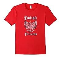 Polish Princess Shirt Girls Polska Pride Poland Shirt Red