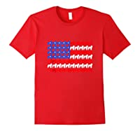 Goldendoodle 4th Of July Usa American Flag Patriotic Dog Shirts Red