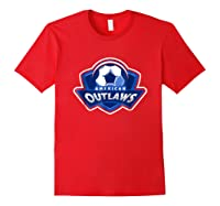 American Outlaw Soccer Game Fan Patriot Shirt Red