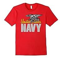 U.s. Navy Seals Team Gift Proud Usn Seal T-shirt Red