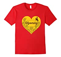 Wing Cow Heart Flower T-shirt - Apparel Red