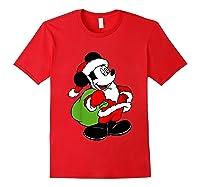 Disney Santa Mickey Mouse T Shirt Red