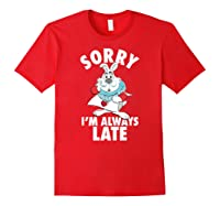 Disney Alice Always Late T Shirt Red