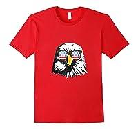 Patriotic Eagle American Flag Sunglasses Freedom Symbol Tank Top Shirts Red
