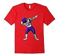 Football Dabbing T Shirt Funny Purple Red