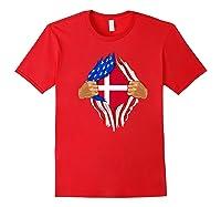 Danish Blood Inside Me T-shirt | Denmark Flag Gift Red