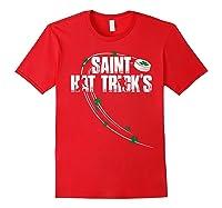 St Patricks Day Hockey T Shirt Saint Hat Trick S Day Funny Red