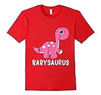 Babysaurus Rex Baby Saurus Dinosaur Cute Gift 2018 Shirts Red