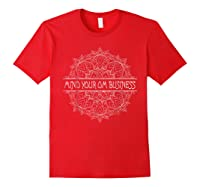 Mind Your Om Business Geometric Graphic Shirts Red