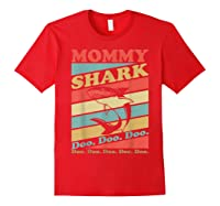 Retro Vintage Mommy Shark Grandma Mather's Day Gifts Shirts Red